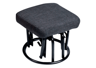 Glider Ottoman with Fabric Top - Dark Grey product photo