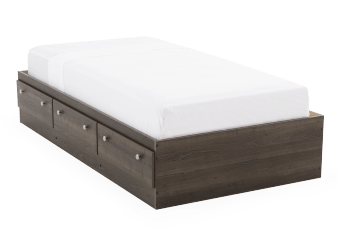 Captain Bed - Grey - Twin Size product photo