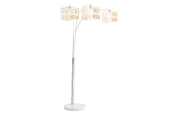 Marble and Silver Metal Floor Lamp product photo