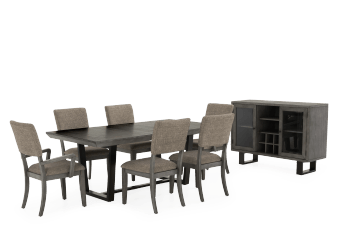 Solid Wood Dining Room Set - Grey product photo