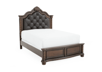 Pine Bed - Dark Brown - Queen Size product photo
