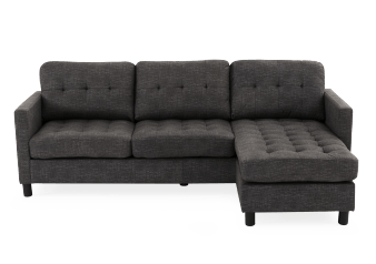 Fabric Reversible Sectional Sofa - Grey product photo