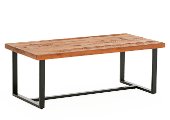 Metal Coffee Table with Wood Top product photo