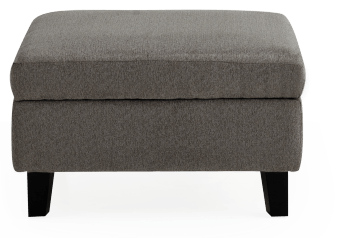 Fabric Storage Ottoman - Grey product photo