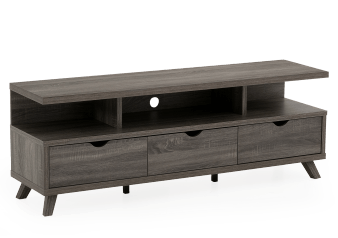 "TV Stand for TV Under 60"" - Grey product photo"