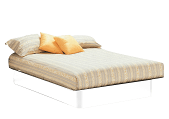 Platform Bed - White - Queen Size product photo