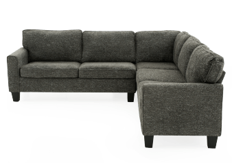 Fabric Sectional Sofa - Dark Grey product photo