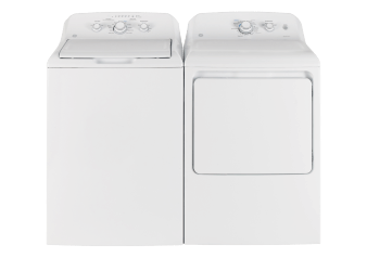 GE Washer and Dryer Set - GTW330BMMWW GTD40EBMKWW product photo