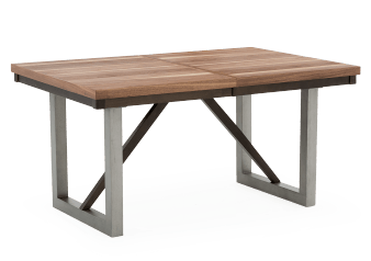 Rectangular Table with Central Leaf - Brown product photo
