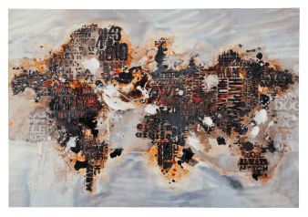 "30X40"" World Map Painting product photo"