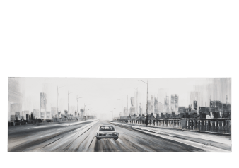 "60X20"" Car and City Painting product photo"