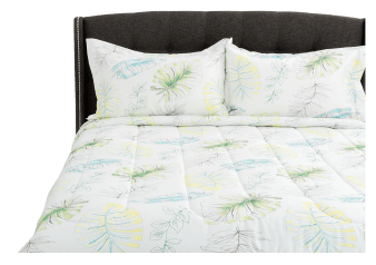 Comforter Set with Foliage - Queen Size - Withe product photo