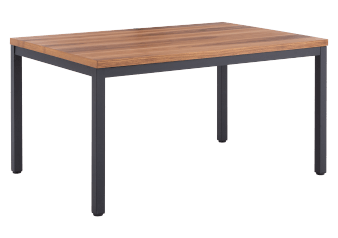 Wood and Metal Rectangular Table product photo