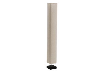 Floor Lamp with Beige Fabric Shade product photo