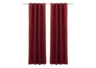 "54X96"" Set of 2 Curtains - Red product photo"