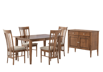 Birch Wood Dining Room Set - Brown product photo