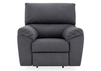 Elran Fabric Rocking Battery Motorized Recliner - Grey product photo