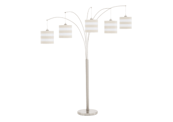 Metal Floor Lamp with White and Beige Shades product photo