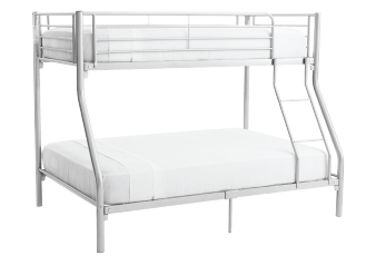 Metal Bunk Bed - Grey - Twin/Full Size product photo