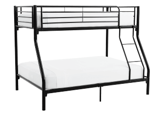 Metal Bunk Bed - Black - Twin/Full Size product photo