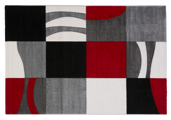 "60X96"" Plaid Patterns Rug - Grey and Red product photo"