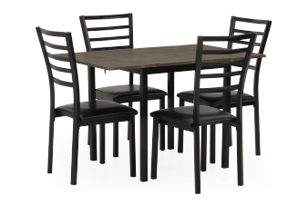 Kitchen Set with Chairs - Black product photo