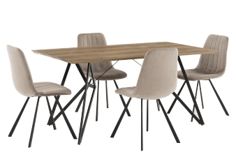 Kitchen Set with Chairs - Grey product photo