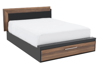 Drawer Bed - Black and Brown - Queen Size product photo