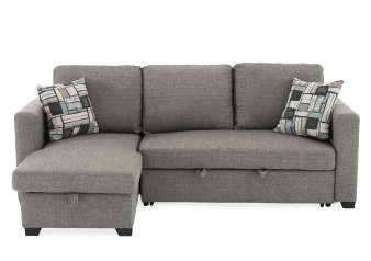 Fabric Sectional Sofa-Bed - Grey product photo