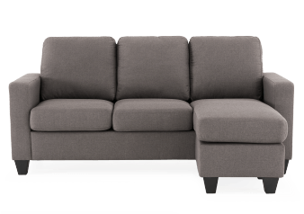 Fabric Sectional Sofa - Grey product photo