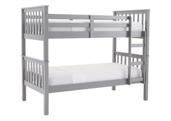 Wood Bunk Bed - Grey - Twin Size product photo