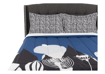 Comforter Set - Queen Size - Blue, White and Black product photo