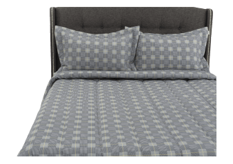 Comforter Set - Queen Size - Grey and Yellow product photo