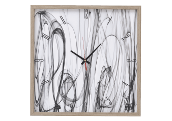 Wall Clock - White and Grey product photo