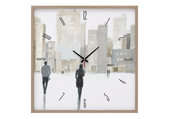 Wall Clock with City Scene - Beige product photo