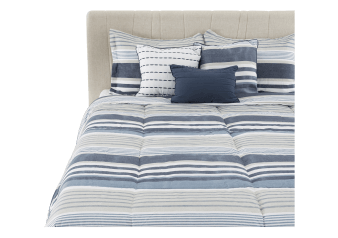 Comforter Set - Queen Size - Blue and Beige product photo
