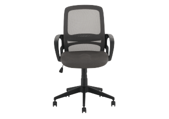 Computer Chair with Wheels - Grey product photo