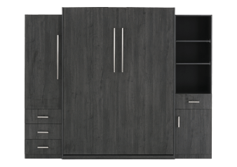 Wall Murphy Bed - Dark Grey - Queen Size product photo
