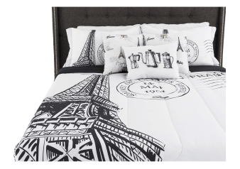 Comforter Set - Queen Size - Black and White product photo