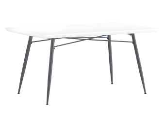 Rectangular Table with Metal Legs product photo