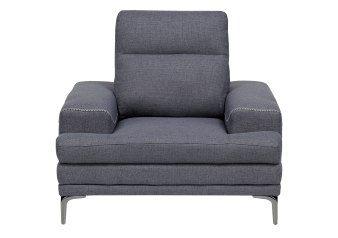 Fabric Armchair with Adjustable Backrest - Grey product photo