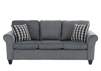 Fabric Sofa with Decorative Pillows - Grey product photo