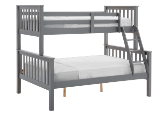 Wood Bunk Bed - Grey - Twin/Full Size product photo