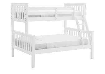 Wood Bunk Bed - White - Twin/Full Size product photo
