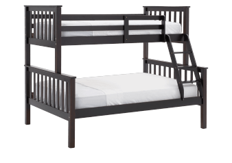 Wood Bunk Bed - Brown - Twin/Full Size product photo
