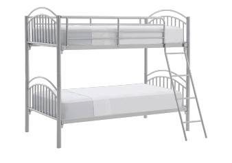 Metal Bunk Bed - Silver Grey - Twin Size product photo