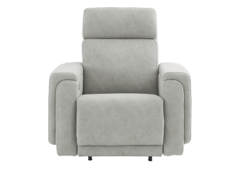 Elran Rocking Electric Fabric Recliner with Adjustable Headrest - Grey product photo