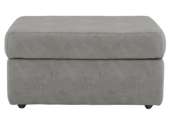 Elran Fabric Storage Ottoman - Grey product photo