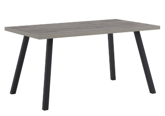 Rectangular Table with Metal Legs - Grey product photo