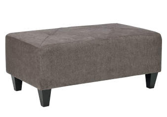 Fabric Ottoman - Grey product photo